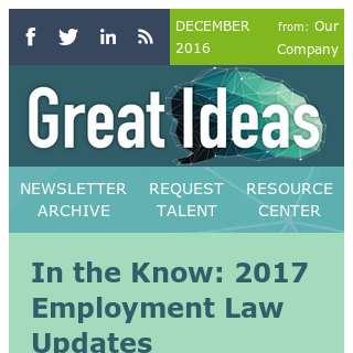 2017 Employment Law Updates